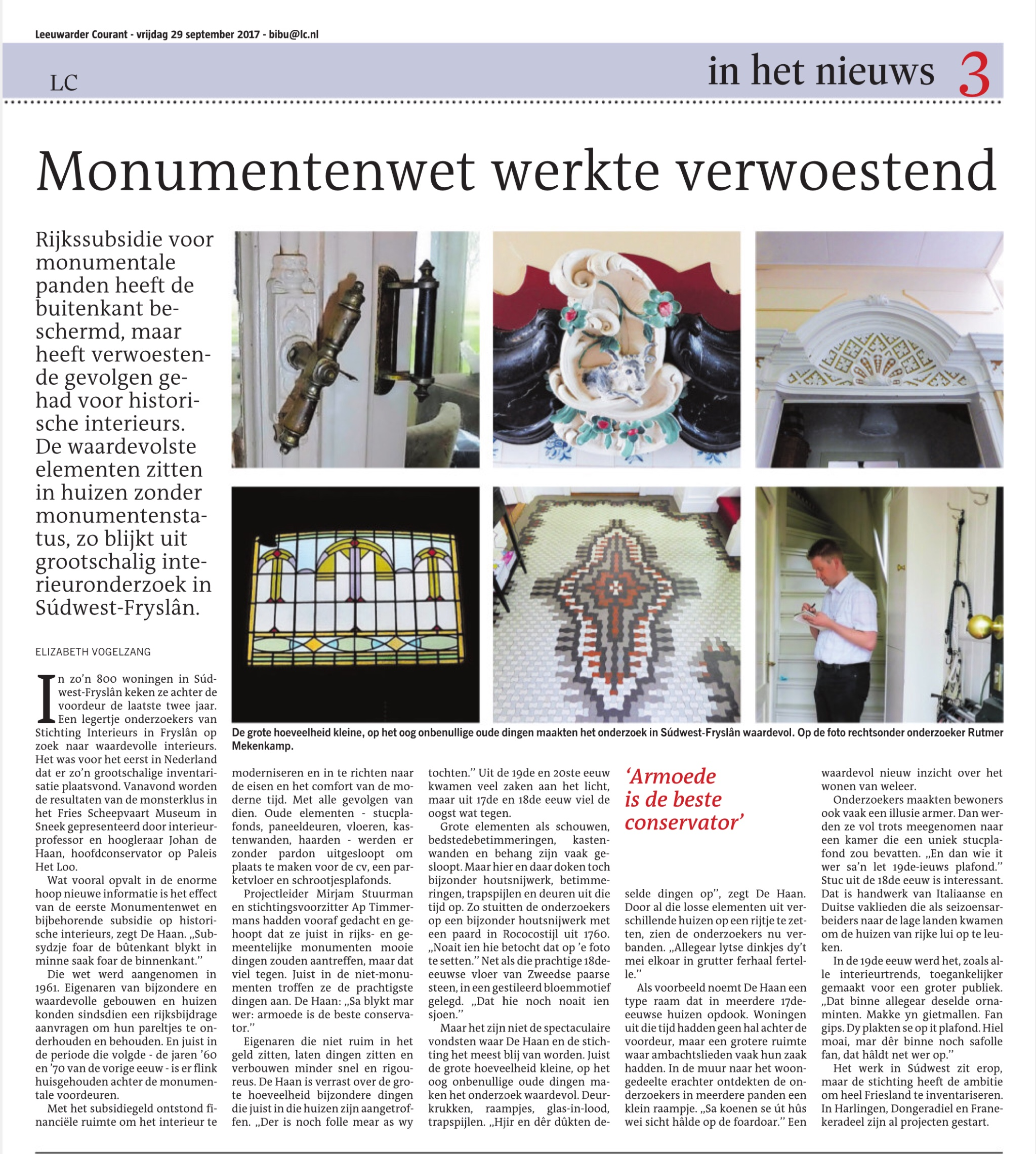 Artikel in LC 29 sept 2017